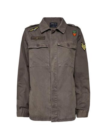 Jaqueta Estilo Militar com Patches